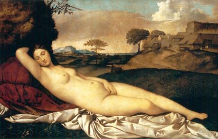01 Giorgione Venere dormiente 1510 circa Dresda Gemaldegalerie