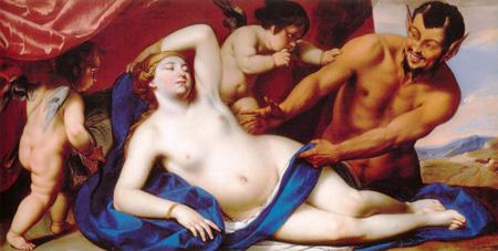 012 Pacecco De Rosa Venere dormiente scoperta da un satiro 1645 circa Napoli museo di San Martino