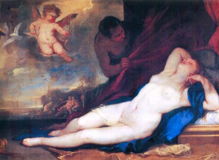 014 Luca Giordano Venere dormiente e satiro 1663 Napoli museo Capodimonte