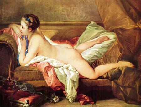 016 Francois Boucher - Giovane ragazza sdraiata 1752 - Monaco Alte Pinakoteck