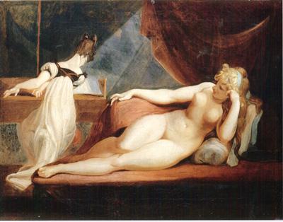 019 Johann Heinrich Fussli donna nuda con fanciulla che suona il piano 1799 Basilea Kunstsammlung