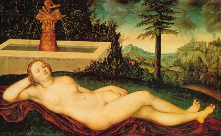 02 Albrecht Durer ninfa della fonte 1525 Vienna Kunsthistorisches museum