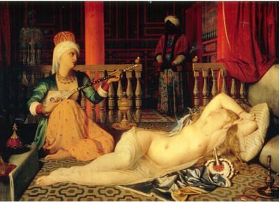 023 Jean Auguste Dominique Ingres Odalisca con la schiava  1839 Cambridge (Massachusetts) Fogg art museum