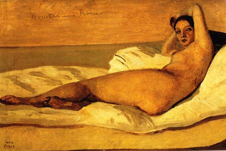 024 Jean Baptiste Corot La Marietta -1843 Parigi museo de Petit Palais