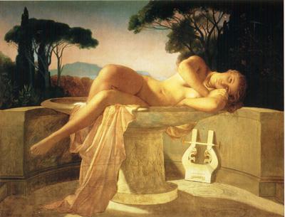 025 Paul Delaroche Fanciulla in una fontana 1845 Besancon musee des Beaux arts