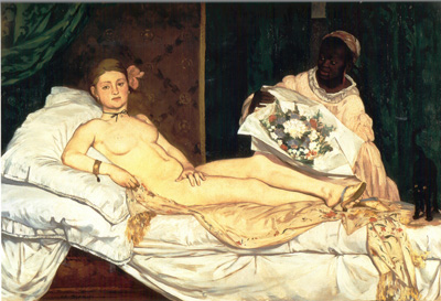 028 Edouard Manet Olympia 1863 Parigi museo D'Orsay