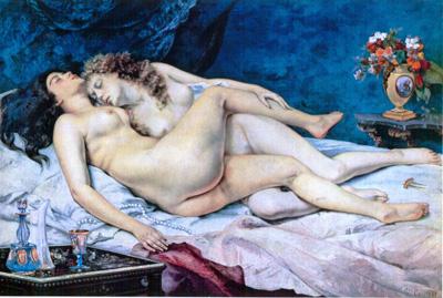 029 Gustave Courbet Il sonno 1866 Parigi Petit Palais