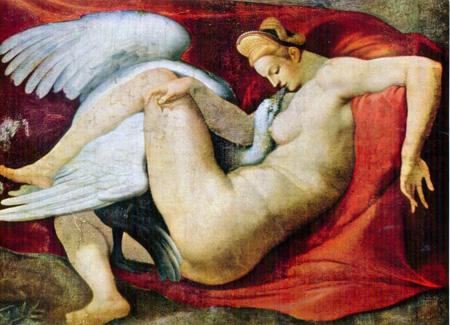03 bis Michelangelo Buonarroti Leda e il cigno 1529 circa  Londra National Gallery