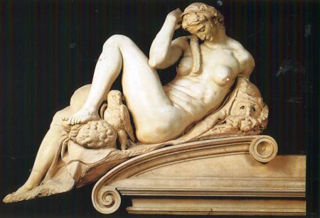 03 Michelangelo La notte part Tomba di Giuliano de  Medici 1526 34 Firenze cappela medici