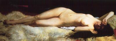 030 Alphonse Lecadre Il risveglio 1870 Londra Whitford and Hughes Gallery