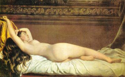 032 Vito D'Ancona Odalisca1870 circa Milano Galleria d'arte moderna