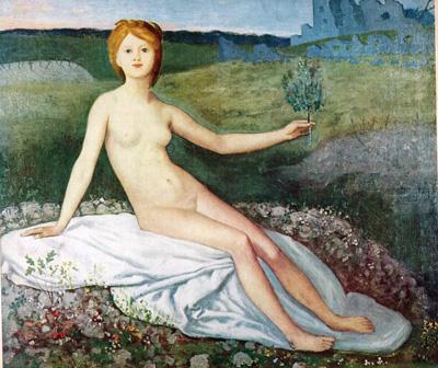 033 Puvis de Chavannes la Speranza 1872 Parigi museo d'Orsay