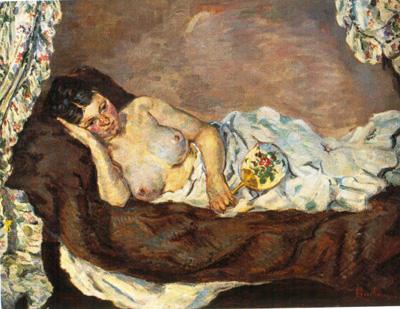 034 Jean Baptiste Guillaumin Donna nuda sdraiata 1877 Parigi museo d'Orsay
