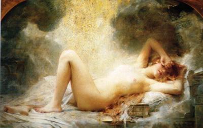 042 Leon Comerre Pioggia d'oro 1890 circa Parigi Petit Palais