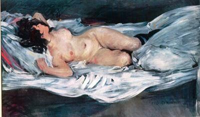 046 Lovis Corinth Nudo sdraiatointorno 1900  Brema Galleria d'Arte