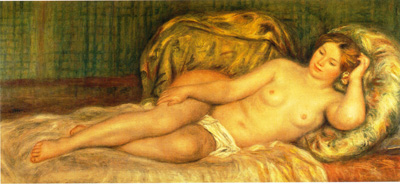 050 Auguste Renoir Nudo lungo 1907 Parigi museo d'Orsay