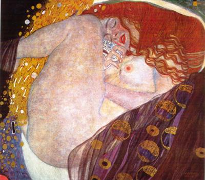 051 Gustav Klimt Danae 1907 - 08 Salisburgo Galerie Welz
