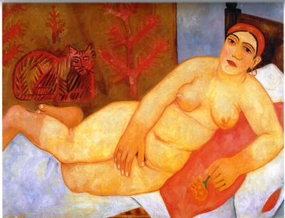 059 Mikhail Larionov The Katsap venus 1912 museo di Novgorod