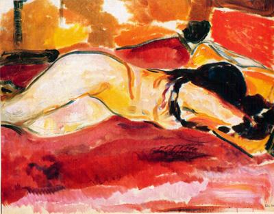 060 Edvard Munch Donna nuda distesa 1912 - 13 Londra collezione privata