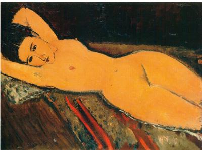 061 Amedeo Modigliani Nudo sdraito con le braccia dietro la testa 1916    Zurigo Stiftumg Sammlung e[1]. G. Buhrle