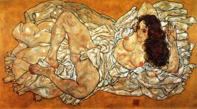 062 Egon Schiele Nudo disteso 1917 Vienna coll Leopold