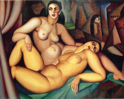 065 Tamara de Lempicka Le due amiche 1923 Ginevra museo d'arte moderna