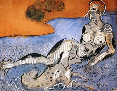 066 Francis Picabia Woman with a dog 1924 - 26 Parigi coll privata