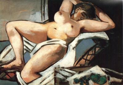 070 Max  Beckmann Reclining nude 1927 coll Winterbotham
