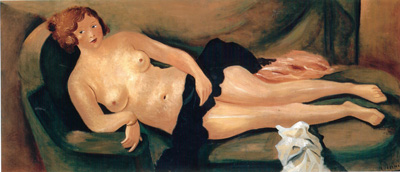 073 Andre Derain Nudo sul sofa 1931 Parigi museo de l'Orangerie