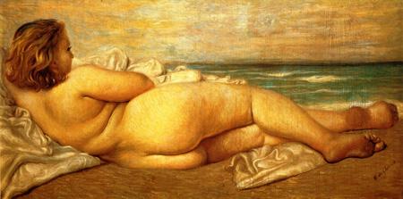 074 Giorgio de Chirico Nudo sulla spiaggia 1932 Roma Galleria d'arte moderna