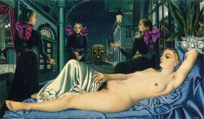 086 Paul Delvaux la Voce pubblica 1948 Bruxelles Museo di Belle Arti