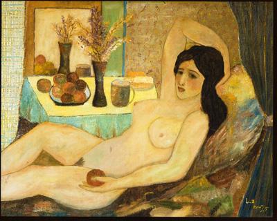 099 Lingzi Donna nuda con la mela 2007 Italia collezione privata