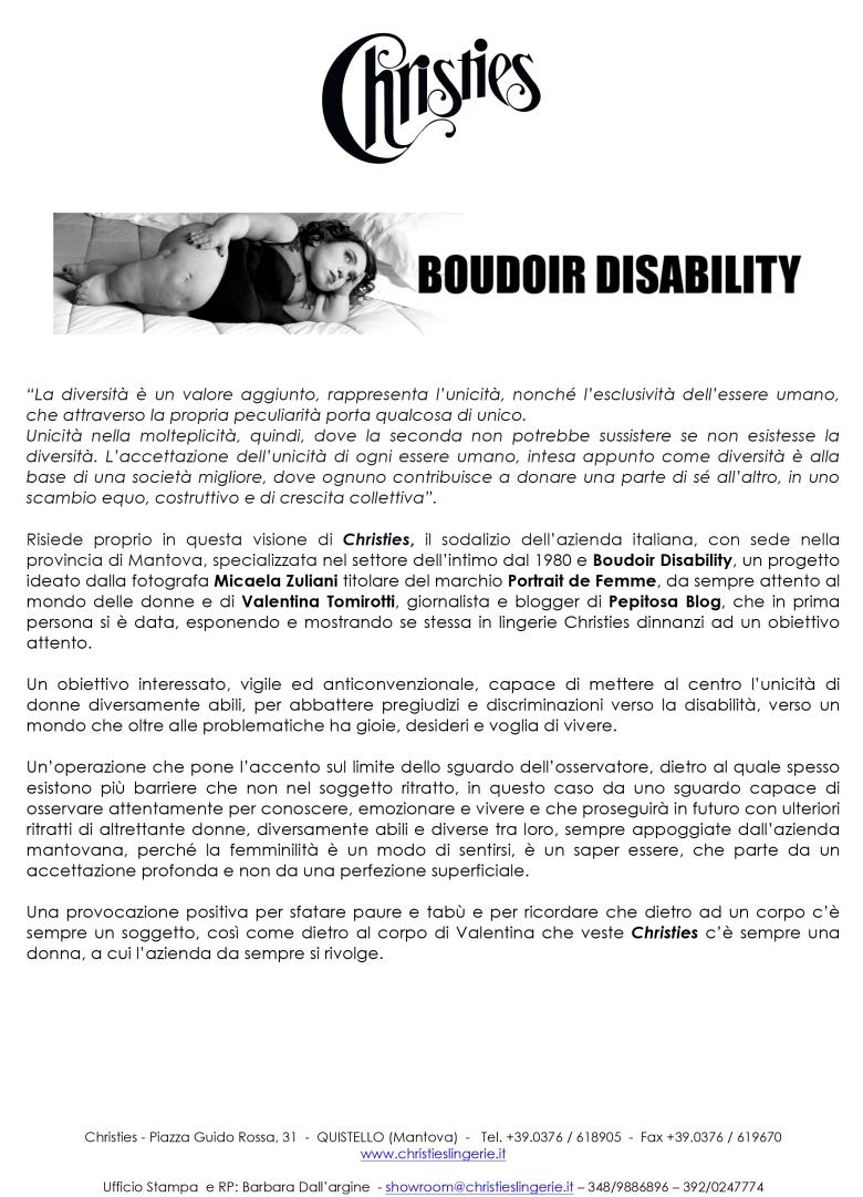 Microsoft Word - Christies Boudoir Disability.doc
