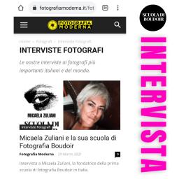 Intervista Fotografia Moderna a Micaela Zuliani